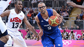 Tony Parker (France); USA vs France, Olympic Games 2012, London